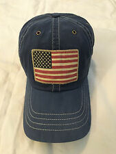 Polo Ralph Lauren Flag Baseball Cap Hat Bear Chino FRESH WATER BLUE NWT