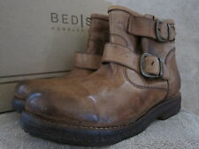 BED STU Womens Spunky Tan Glove Leather Buckle Ankle Boots Shoes US 8 EUR 38 NWB