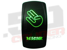 Green Led Rocker Switch Marine Marina Boat ON/OFF Magic Scarab Donzi Fountain