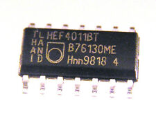 Philips HEF4011BT,QUAD 2-IN NAND GATE, SO14.  5 pieces