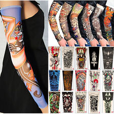 Lot 6 Pcs Temporary Fake Slip On Tattoo Arm Sleeves Kit New Fashion