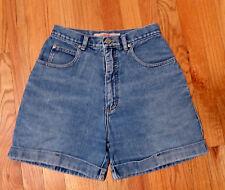 Vintage 1990's ** HIGH SIERRA ** Excellent High Waist Denim Cuffed Shorts Size 6
