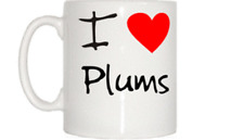 I Love Heart Plums Mug