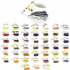 5PCS Fishing Spinnerbait spoon Lure Spinner Baits 14.5g Swim Bass Fly Jig Rubber