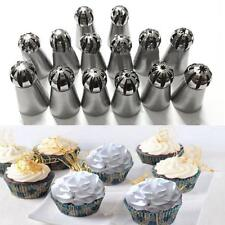 14Pcs Sphere Ball Russian Icing Piping Nozzle Tips Fondant Cake Buttercream Tool