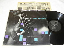 """Jimmy Witherspoon """"Singin' The Blues"""" 1959 Jazz LP, VG, Mono, World Pacific #814"""