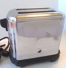 Vintage SUNBEAM T-1-C TOASTER Art Deco Bakelite Chrome Stainless NEEDS CORD