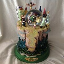RARE Disney Peter Pan & The Lost Boys Musical Rotation Lite Up SnowGlobe-MIB-HTF