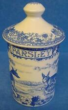 SPODE BLUE ROOM PARSLEY SPICE JAR OR HERB POT AESOPS FABLES PATTERN