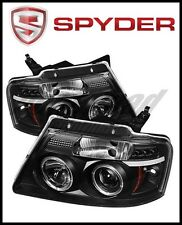Spyder Ford F150 04-08 Projector Headlights Version 2 LED Halo LED Blk