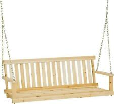 NEW JENNINGS H-27 4 FOOT TRADITIONAL WOODEN PORCH SWING WITH CHAINS 9361676