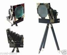 Vintage Old Film Folding Camera Replica Decorative Table Desk Studio Movie Gift