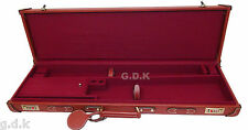 "GDK TANNED LEATHER SHOTGUN CASE, 26-32"" BARREL SHOTGUN CASE,TANNED LEATHER CASE,"