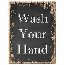 PP0356 Rust Wash Your Hand Sign Bar Store Shop Pub Cafe Home Interior Decor
