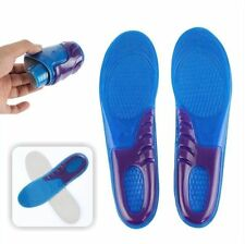 Ladies Gel Insoles Silicon Worker Boots Comfort Arch Support Massaging Size 4-6