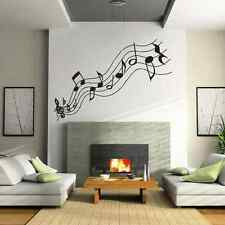 Large music notes vinyl living room wall sticker - vinyl wall art