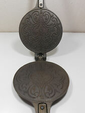 """Jotul Product of Norway 6"""" dia. Cast Iron Crepe Pizzelle waffle vintage press"""