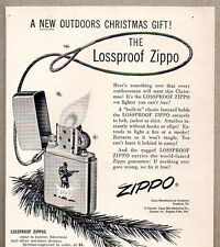1956 Print Ad Lossproof Zippo Lighters Hunting Design Bradford,PA