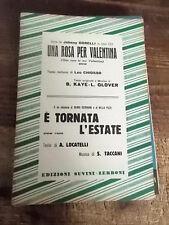 """SPARTITO J. DORELLI """"UNA ROSA PER VALENTINA"""" R. GERMANI """"E' TORNATA L'ESTATE"""""""
