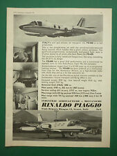 9/1970 PUB AVION RINALDO PIAGGIO PD.808 JET TRANSPORT AIRCRAFT ORIGINAL AD