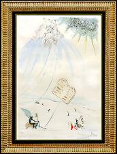 Salvador Dali Color Etching Authentic Original HAND SIGNED Moses Religious Art