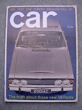 Car (May 1966) Ford Zephyr, Zodiac, Morris Cowley, Talbot 10/23, Broadspeed GT