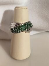Sterling Silver Emerald Ring Signed CNA Thailand Size 8