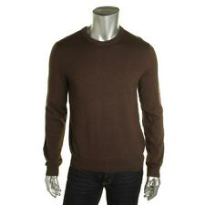 Private Label 0972 Mens Brown Merino Wool Pullover Sweater Shirt S BHFO