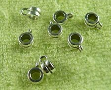 400pcs Tibetan Silver Little Bead Spacers / Bails U52-zn63527