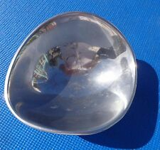 """NAMBE 567 Polished Aluminum Candy Dish Bowl 7""""long 6.25""""wide 3""""tall 1967 Vintage"""