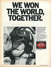 1969 STP Oil Treatment The Racers Edge Graham Hill We Won The World Print Ad