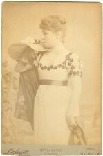 *LILLIE LANGTRY RARE BEAUTIFUL 1884 COSTUME CABINET PHOTO IN THEATRE ROLE*
