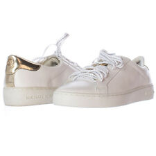 Michael Kors Irving Leather Sneaker Lace Up Fashion Sneakers, White, 8 M US - Di