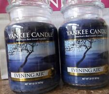 Lot of 2 Yankee Candle NEW  ~Evening Air~  22 oz. Candles  Free Ship Housewarmer