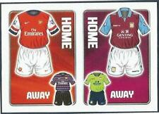 TOPPS 2012/13 PREMIER LEAGUE #163-ARSENAL / ASTON VILLA HOME & AWAY KITS