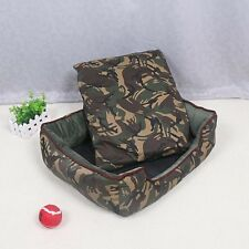 Trendy Soft Warm Pet Nest Cats Bed Jungle Camouflage Sofa Dog Bed Mat  House
