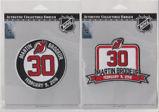 Martin Brodeur Retirement Patch New Jersey Devils Jersey #30 Combo