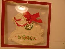 Lenox Holiday Rocking Horse Cookie Press with Sugar Cookie Recipe