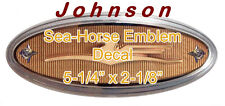 JOHNSON OUTBOARD GOLDEN SEA HORSE EMBLEM DECAL 5.5, 7.5, 10, 18 HP-UV RESISTANT