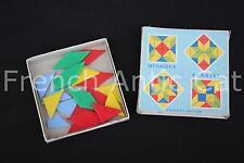 Ancien matériel scolaire vintage MOSAIQUE couleur triangle FERNAND NATHAN AA111