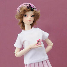 Dollmore 1/4 BJD doll clothes MSD SIZE - Simple Round Neck T Shirt (White)
