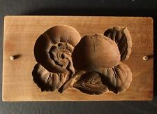 ksg4  ANTIQUE JAPANESE KASHIGATA CAKE MOLD JAPANESE PERSIMMON KAKI  WOOD CARVED