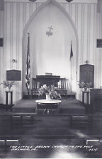 RP: Little Brown Church in the Vale Interior, NASHUA, Iowa, 30-40s