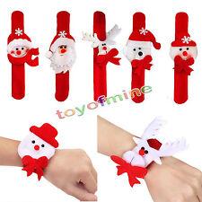 Navidad Slap Círculo pulsera regalo del partido de Navidad Decoración azar