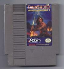 Vintage Nintendo Iron Sword Wizards & Warriors 2 Video Game NES Cartriage VHTF