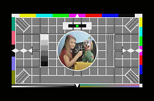 Framed Print - Iconic Channel 4 End of Transmission Girl (Test Card Picture Art)