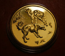 1994 China Lunar Zodiac Year of the Dog Coin Medal Fine Copper ShenYang Mint