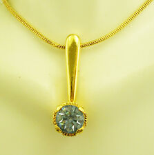 """Joan Rivers Faceted Crystal Necklace with Snake Chain  15"""""""