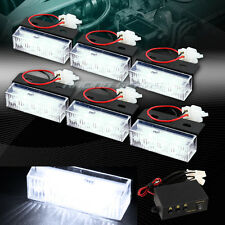 Universal 18 White LED Emergency Hazard Warning Flash Strobe Light Bar Kit