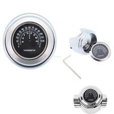"""Alluminio Temp Termometro per Harley Glide 7/8"""" 1"""" manubrio impermeabile"""